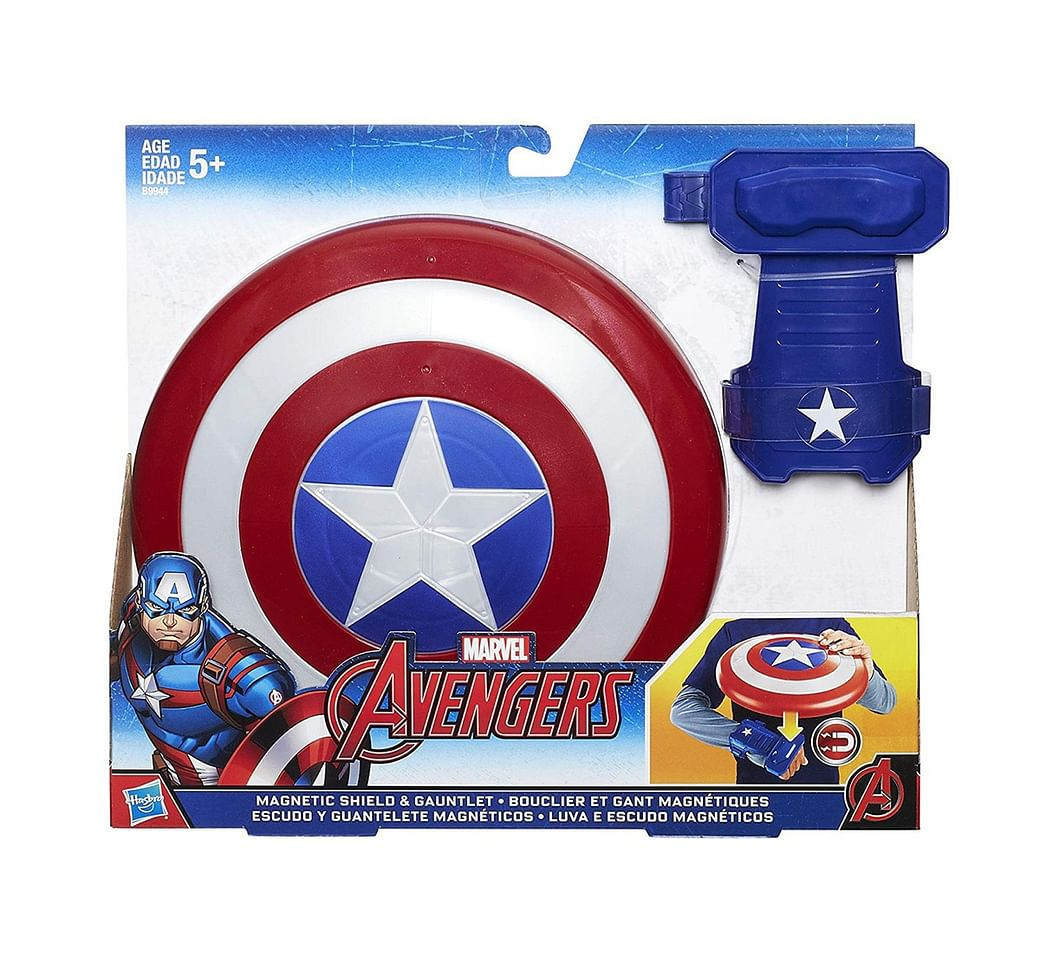 Shop Marvel Avengers Captain America Magnetic Shield And Gauntlet ...
